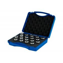 Collet 415 E Precision 6µm  OZ 16 (2-16)   Set (Plastic Box) 15 pcs (2-3-4-5-6-7-8-9-10 11-12-13-14-15-16)