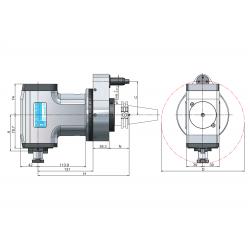 Angle Head 90º BT PLUS BT40 ERP Face Mill ArborØ22 C=80 131 M Typ Standard Loc'n Pin & Interlock