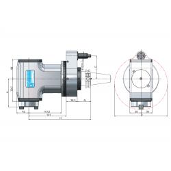 Angle Head 90º BT PLUS BT40 ISO30 C=80 131 M Typ Standard Loc'n Pin & Interlock