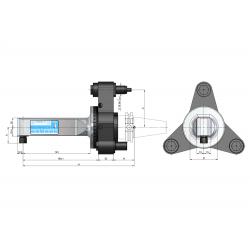 Angle Head 90º BT PLUS BT40 ERP Output ER11 (1-7) C=65 160 Slimline Size 1 3 Point Loc'n & Torque Arm