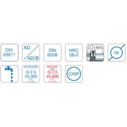 Face Mill Adapter DIN 69871 SK30 Form AD Ø16 - 40