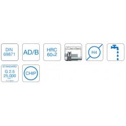 High Precision Power Chuck DIN 69871SK40 Form AD/B EKS 20 (6-20) - 130