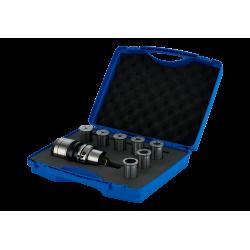High Precision Power Chuck EKS HSK A100 Form A EKS 20 (6-20) - 105 Set (Plastic Box) (A100.03.20.105.N) Ø6-8-10 12-16 (5x)